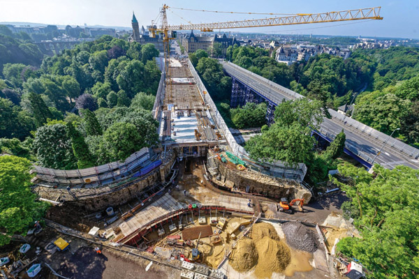 CHANTIER PONT ADOLPHE LUXEMBOURG